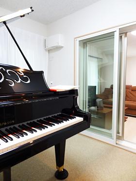 竣工したピアノ防音室