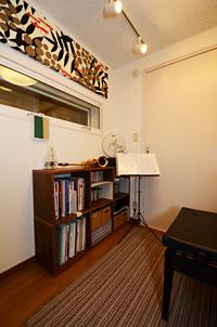 竣工したピアノ・アルトサックス防音室