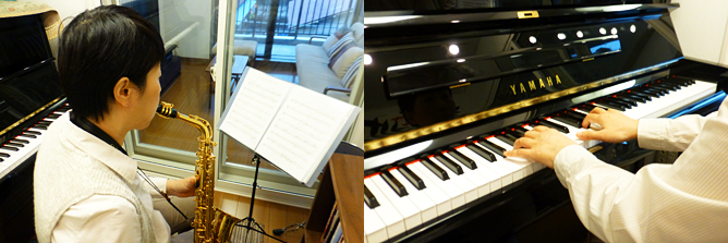 仕事帰りでも楽器練習できるようになりました