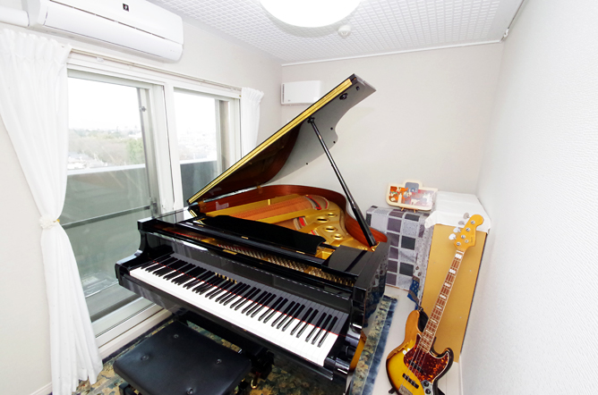 竣工後のピアノ防音室