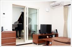 実際にご見学されたピアノ室
